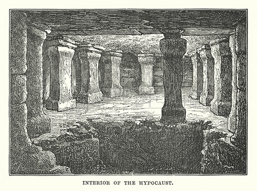Interior of the Hypocaust. Illustration for Our Own County (Cassell, c 1880).