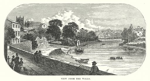 View from the Walls. Illustration for Our Own County (Cassell, c 1880).