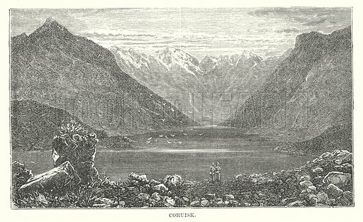 Coruisk. Illustration for Our Own County (Cassell, c 1880).