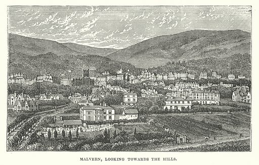 Malvern, Looking Towards the Hills. Illustration for Our Own County (Cassell, c 1880).