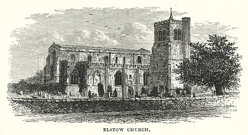 Elstow Church. Illustration for Our Own County (Cassell, c 1880).