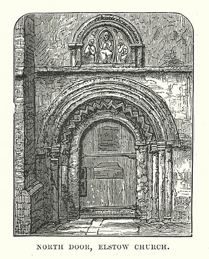 North Door, Elstow Church. Illustration for Our Own County (Cassell, c 1880).