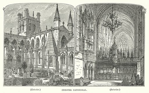 Chester Cathedral. Illustration for Our Own County (Cassell, c 1880).