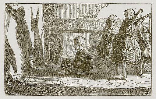 Shadows. Illustration for Games for Family Parties and Children (Frederick Warne, c 1880).