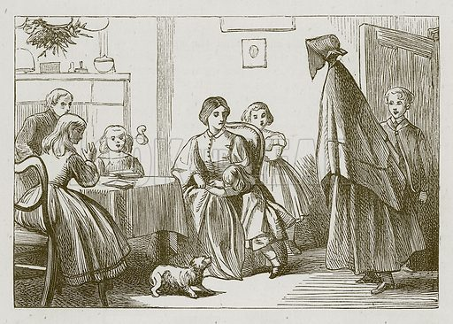 The Giantess. Illustration for Games for Family Parties and Children (Frederick Warne, c 1880).