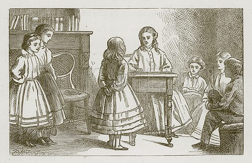 Judge and Jury. Illustration for Games for Family Parties and Children (Frederick Warne, c 1880).