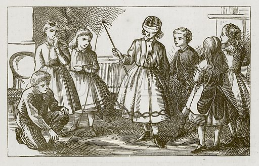 The Angler and the Fish. Illustration for Games for Family Parties and Children (Frederick Warne, c 1880).
