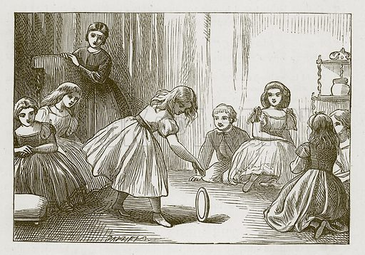 Twirl the Trencher. Illustration for Games for Family Parties and Children (Frederick Warne, c 1880).