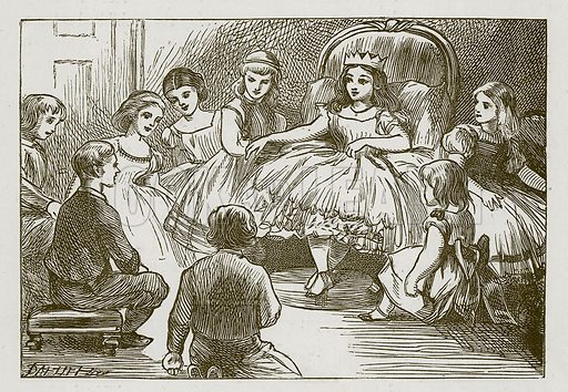 The Royal Game. Illustration for Games for Family Parties and Children (Frederick Warne, c 1880).