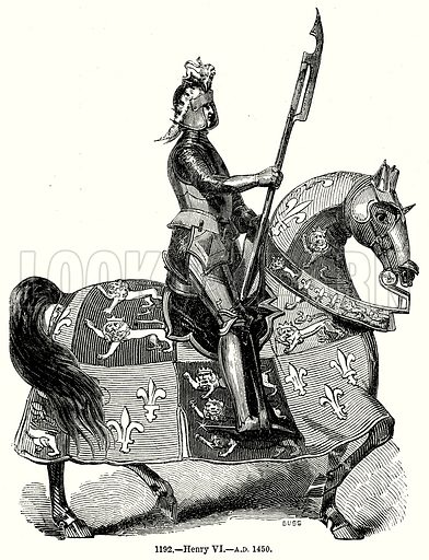 Henry VI – AD 1450. Illustration from Old England, A Pictorial Museum edited by Charles Knight (James Sangster & Co, c 1845).