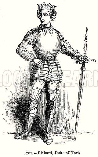 Richard, Duke of York. Illustration from Old England, A Pictorial Museum edited by Charles Knight (James Sangster & Co, c 1845).
