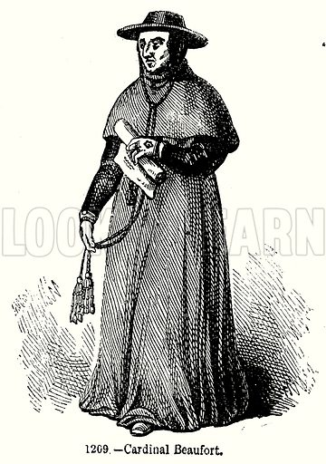 Cardinal Beaufort. Illustration from Old England, A Pictorial Museum edited by Charles Knight (James Sangster & Co, c 1845).