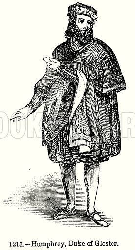 Humphrey, Duke of Gloster. Illustration from Old England, A Pictorial Museum edited by Charles Knight (James Sangster & Co, c 1845).
