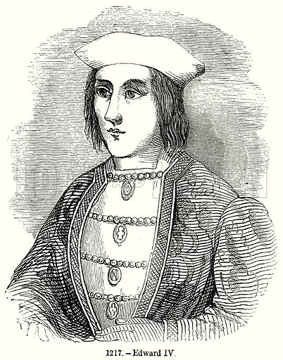 Edward IV. Illustration from Old England, A Pictorial Museum edited by Charles Knight (James Sangster & Co, c 1845).