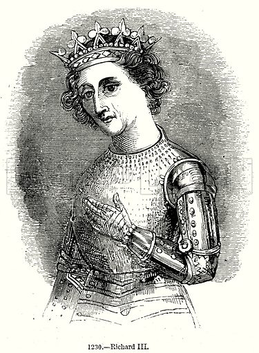 Richard III. Illustration from Old England, A Pictorial Museum edited by Charles Knight (James Sangster & Co, c 1845).