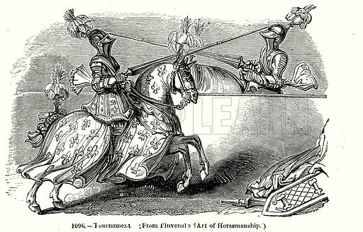 Tournament. Illustration from Old England, A Pictorial Museum edited by Charles Knight (James Sangster & Co, c 1845).