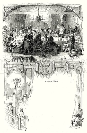 The Tabard. Illustration from Old England, A Pictorial Museum edited by Charles Knight (James Sangster & Co, c 1845).