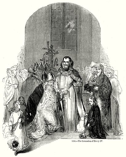 The Coronation of Henry IV. Illustration from Old England, A Pictorial Museum edited by Charles Knight (James Sangster & Co, c 1845).