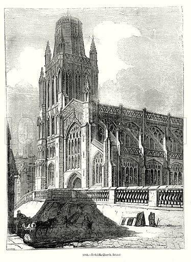 Redcliffe Church, Bristol. Illustration from Old England, A Pictorial Museum edited by Charles Knight (James Sangster & Co, c 1845).