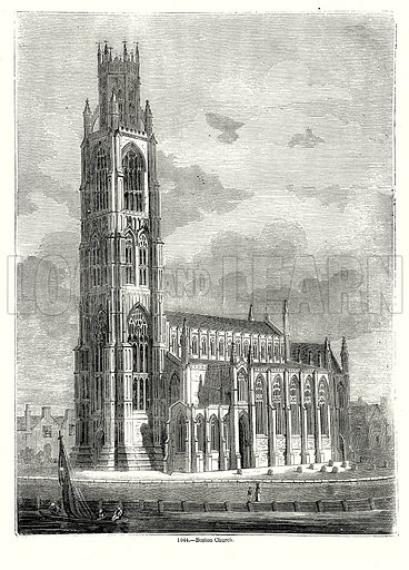 Boston Church. Illustration from Old England, A Pictorial Museum edited by Charles Knight (James Sangster & Co, c 1845).