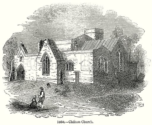 Chilten Church. Illustration from Old England, A Pictorial Museum edited by Charles Knight (James Sangster & Co, c 1845).