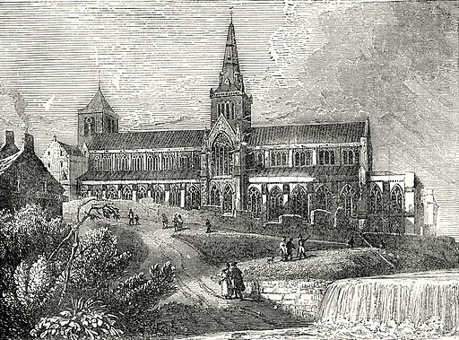 Glasgow Cathedral. Illustration from Old England, A Pictorial Museum edited by Charles Knight (James Sangster & Co, c 1845).