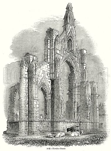 Howden Church. Illustration from Old England, A Pictorial Museum edited by Charles Knight (James Sangster & Co, c 1845).