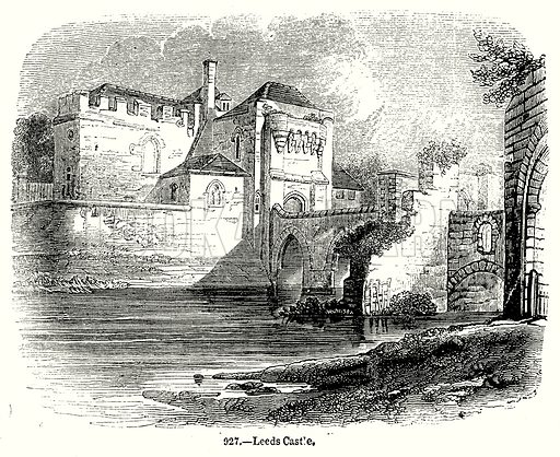 Leeds Castle. Illustration from Old England, A Pictorial Museum edited by Charles Knight (James Sangster & Co, c 1845).