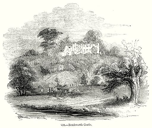 Betchworth Castle. Illustration from Old England, A Pictorial Museum edited by Charles Knight (James Sangster & Co, c 1845).