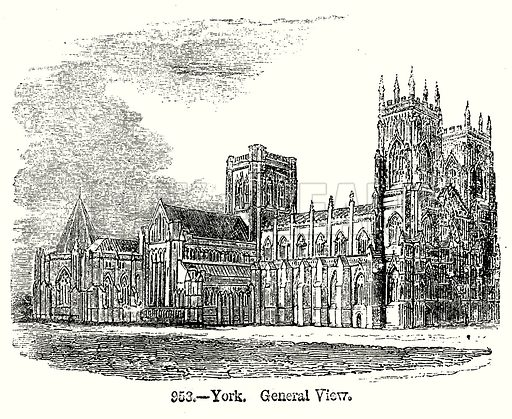 York. General View. Illustration from Old England, A Pictorial Museum edited by Charles Knight (James Sangster & Co, c 1845).