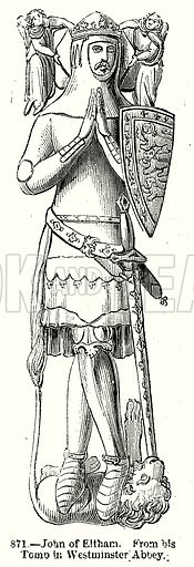 John of Eltham. Illustration from Old England, A Pictorial Museum edited by Charles Knight (James Sangster & Co, c 1845).
