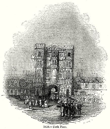 York Place. Illustration from Old England, A Pictorial Museum edited by Charles Knight (James Sangster & Co, c 1845).