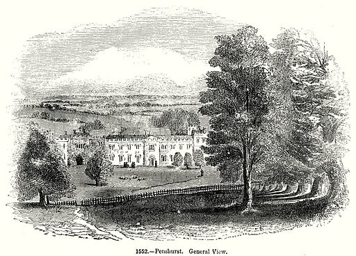 Penshurst. General View. Illustration from Old England, A Pictorial Museum edited by Charles Knight (James Sangster & Co, c 1845).
