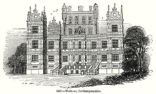 Wollaton, Northamptonshire. Illustration from Old England, A Pictorial Museum edited by Charles Knight (James Sangster & Co, c 1845).