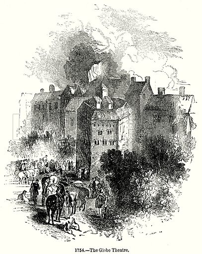 The Globe Theatre. Illustration from Old England, A Pictorial Museum edited by Charles Knight (James Sangster & Co, c 1845).