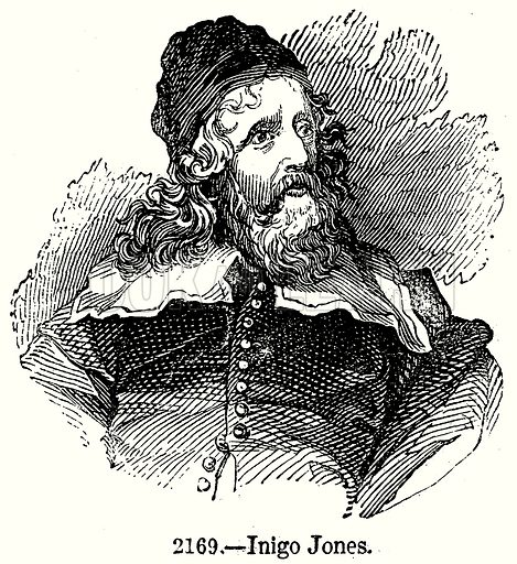 Inigo Jones. Illustration from Old England, A Pictorial Museum edited by Charles Knight (James Sangster & Co, c 1845).