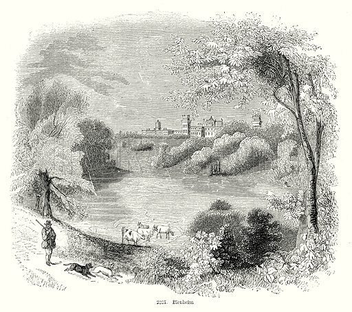 Blenheim. Illustration from Old England, A Pictorial Museum edited by Charles Knight (James Sangster & Co, c 1845).