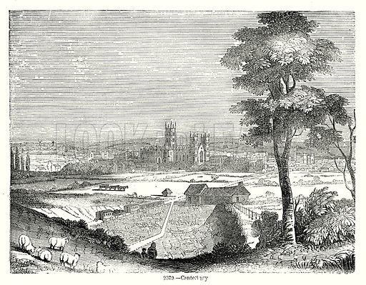 Canterbury. Illustration from Old England, A Pictorial Museum edited by Charles Knight (James Sangster & Co, c 1845).
