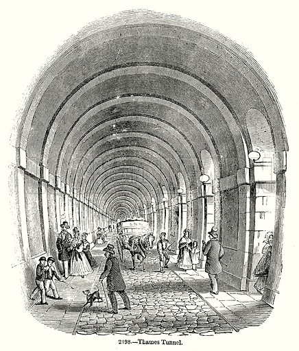 Thames Tunnel. Illustration from Old England, A Pictorial Museum edited by Charles Knight (James Sangster & Co, c 1845).