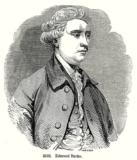 Edmund Burke. Illustration from Old England, A Pictorial Museum edited by Charles Knight (James Sangster & Co, c 1845).