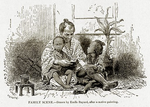 Family Scene. Illustration from With the World's People by John Clark Ridpath (Clark E Ridpath, 1912).
