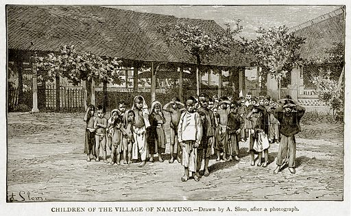 Children of the Village of Nam-Tung. Illustration from With the World