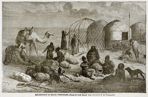 Encampment of Uigur Turcomans. Illustration from With the World's People by John Clark Ridpath (Clark E Ridpath, 1912).