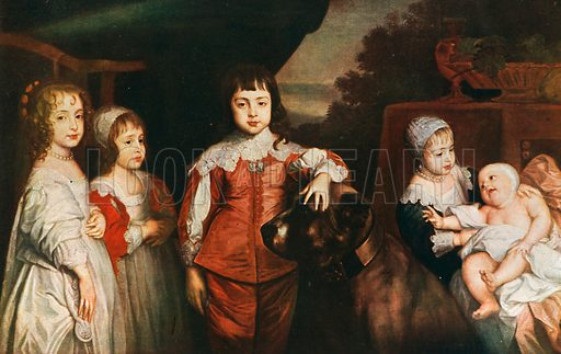 Five Children of Charles I.  Reproduced in Beautiful Children by C Haldane McFall (Jack, c 1905.).