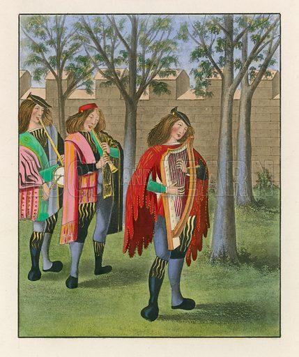 Minstrels, c 1480