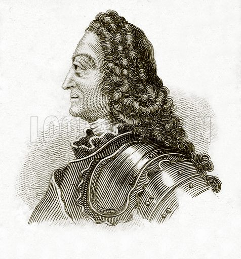 George II.  Illustration for The Universal Historical Dictionary by George Crabb (Baldwin, 1825).