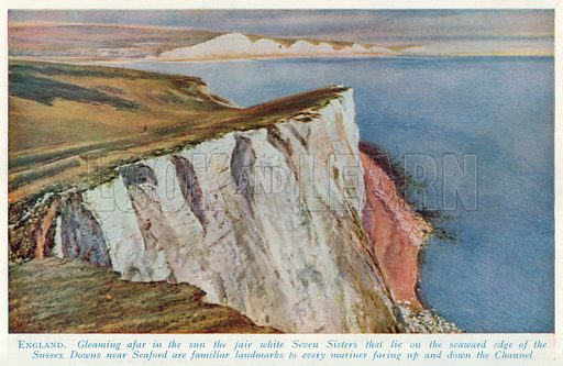 England. Illustration for Countries of the World by J A Hammerton (Fleetway, c 1925).