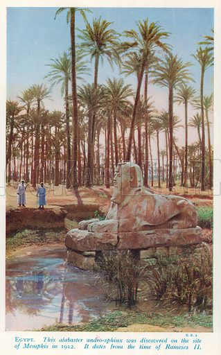 Egypt. Illustration for Countries of the World by J A Hammerton (Fleetway, c 1925).