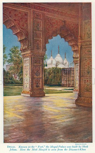 Delhi. Illustration for Countries of the World by J A Hammerton (Fleetway, c 1925).