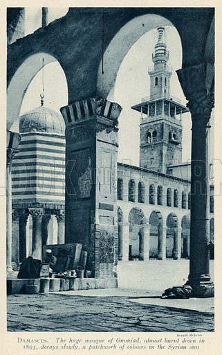 Damascus. Illustration for Countries of the World by J A Hammerton (Fleetway, c 1925).